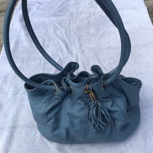 Light Blue leather Michael Kors bag hobo style